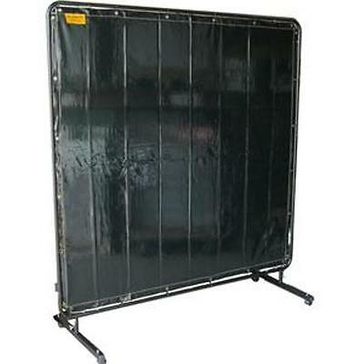 Welding curtain 1.8m x 1.8m pvc kevlar stitched with adjustable frame on castors