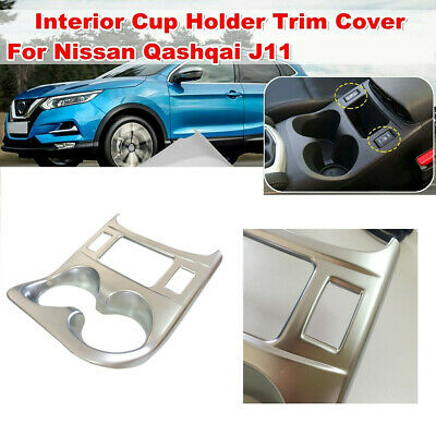 Matt Water Cup Holder Trim Cover For Nissan Qashqai J11 2014 2015 2016(MT)
