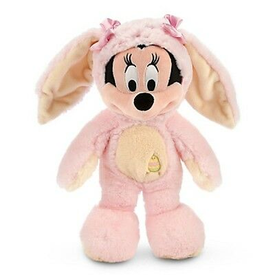 """Minnie Mouse Easter Bunny Plush """"genuine Original Authentic Disney Store"""" Patch"""
