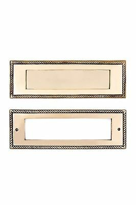 heavy large cast brass Rope Mail Slot