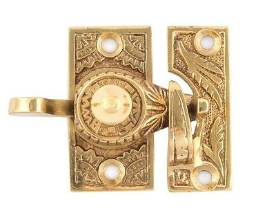 Oriental decorative brass window lock