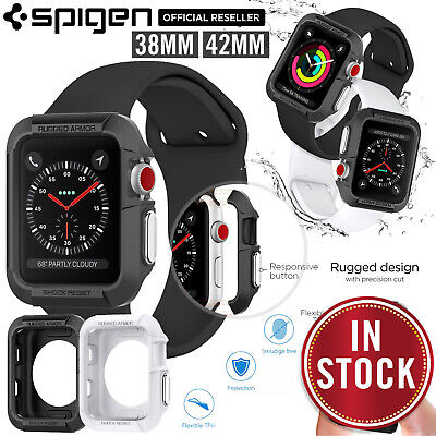 For Apple Watch Case (S3/S2/S1), Genuine SPIGEN Rugged Armor Cover for 38/42mm