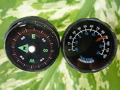 27mm COMPASS + 27mm THERMOMETER  WITH HOLD FIT FOR 21 MM WATCH BAND