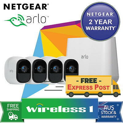 Free Express NETGEAR Arlo Pro HD with 4 HD Cameras (VMS4330 + VMC4030) Bundle