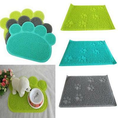HOT Pet Dog Puppy Cat Feeding Mat Pad PVC Bed Dish Bowl Food Feed Placement LH