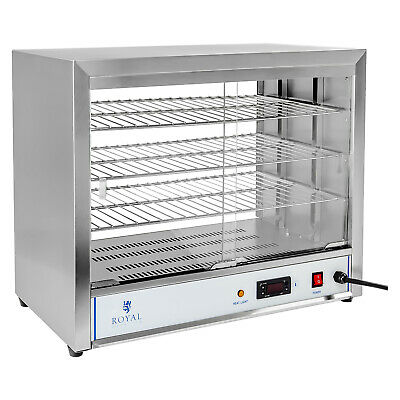 Heated Display Pie Cabinet Pizza Potato Ideal 4 All Food 30-85°C Stainless Steel