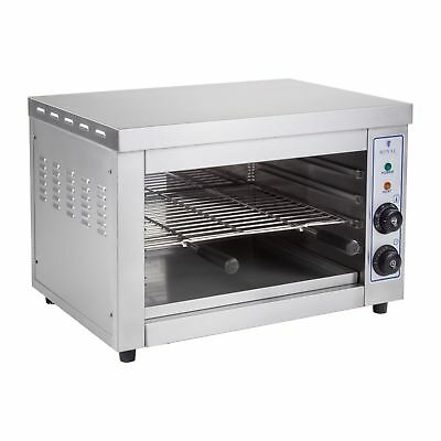 Electric Salamander Grill Toaster Oven Big 300°C Stainless Steel 3250 W New