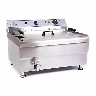 Stainless Steel Professional Fryer 30 Litres Deep Fat Doughnut Bakery 9000 W New