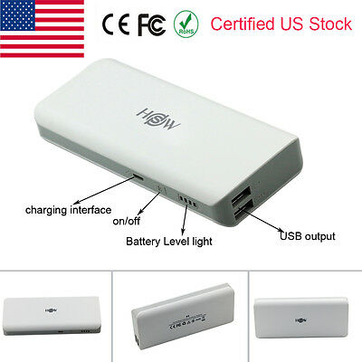 10000mAh Dual USB External Power Bank Portable Battery Charger for Cell Phone US