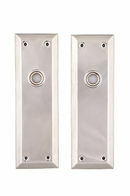 Nickel NY Back Plates solid brass for glass or nickel doorknobs