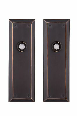 Oil rubbed bronze  NY Back Plates solid brass for glass or ORB doorknobs