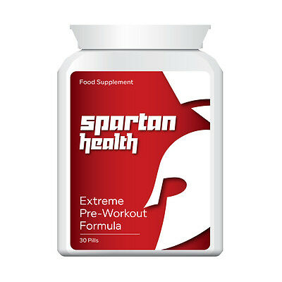 Spartan Health Extreme Pre Workout Formula Pill Tablet Increase Strength