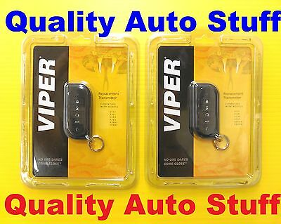 7254V EZSDEI7251 Viper Set Of 2 Replacement 2-Way Transmitter Remote NEW Genuine
