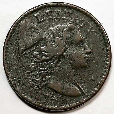 1794 S-47 R-4 Liberty Cap Large Cent Coin 1c
