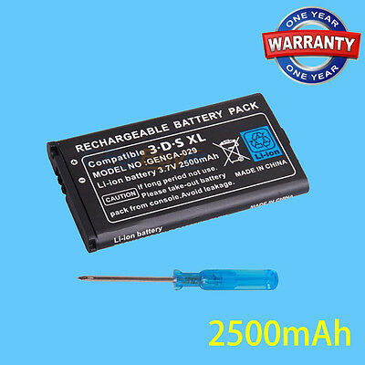 Li-Ion Battery For Nintendo 3ds XL/LL Replacement Battery Pack And Screwdriver