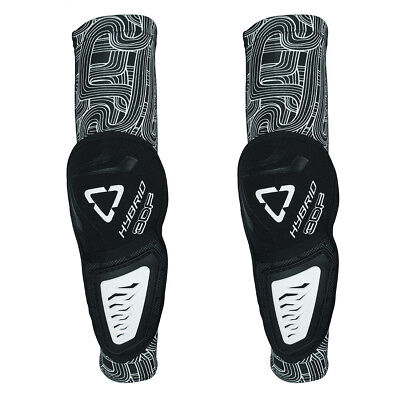 Leatt Mx Gear Youth 3DF Hybrid Black/White Motocross Bike BMX Kids Elbow Guards