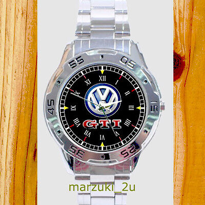 NEW RARE Volkswagen GTI CUSTOM CHROME MEN'S WATCH WRISTWATCHES FREE SHIPPING
