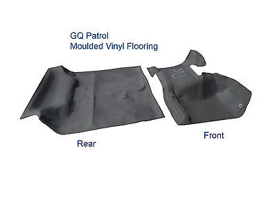 To suit Nissan Patrol GQ LWB Y60 Front and Rear Moulded Rubber Vinyl Flooring