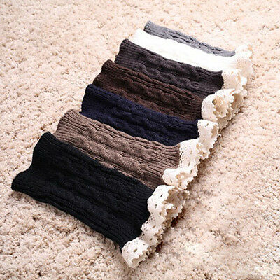 Women's Warm Crochet Lace Knitted Boot Cuffs Toppers Leg Warmers Socks