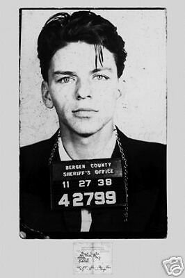 Frank Sinatra Mugshot Poster Approximately 24 x 36 Free US Shipping The Sopranos