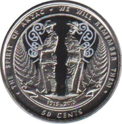 "Neuseeland 50 Cents 2015 ""The Spirit of Anzac"""