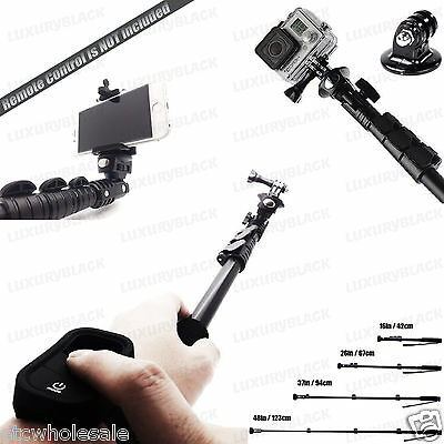 GoPro MONOPOD Selfie Stick Tripod Wi-Fi Remote Case for GoPro Hero 4 3+ 3 2 1