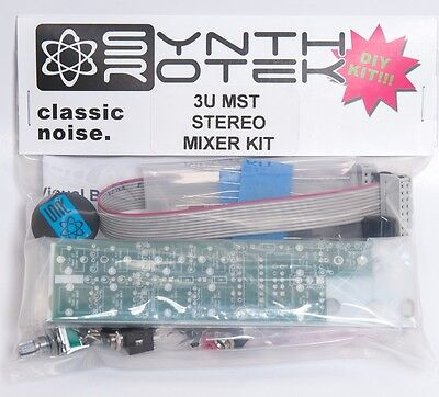 MST Stereo Output Mixer DIY Kit by Synthrotek Eurorack Module Modular