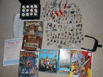 Large Lot Of OVER 140 Miniature Pewter, Wizards, Dragons. Fantasy Warriors Plus