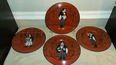 "4 WILLIAMS SONOMA GUY BUFFET LES GARCONS 8 1/4"" SALAD / DESSERT PLATES WAITERS"