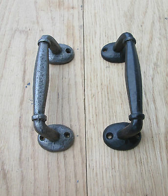 Cast Iron Offset Old Style Door Gate Shed Cupboard Pull Handle