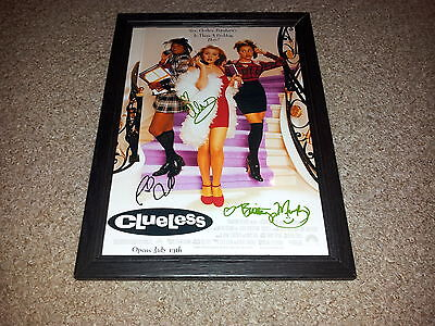 """Clueless Castx3 Pp Signed & Framed 12X8"""" Photo Poster Alicia Silverstone"""