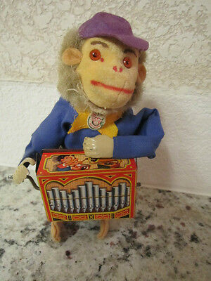 WIND UP MONKEY PLAYING ORGAN? MADE IN WESTERN GERMANY MAX CARL?