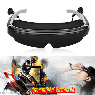 """98"""" Virtual Display 3D Video Glasses Eyewear 16:9 Private Theatre Support 1080P"""