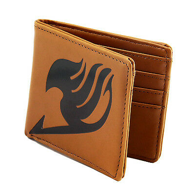 Cosplay Fairy Tail Guild LOGO Wallet Card Money Purse Clip PU Leather Billfold