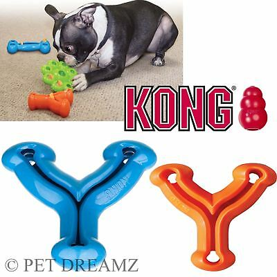Kong Quest Wishbone Dog Puppy Treat Food Dispensing Chew Toy – 2 Sizes