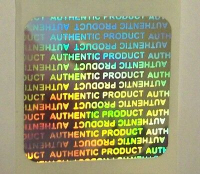 "100 Authentic Product Hologram 1-3/16"" Square Tamper Evident Sticker Labels"