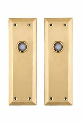 NY Back Plates solid brass for glass or brass doorknobs