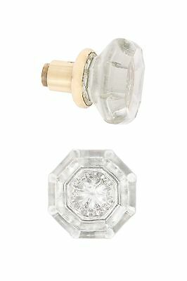 antique reprooduction CLEAR octagonal glass doorknobs