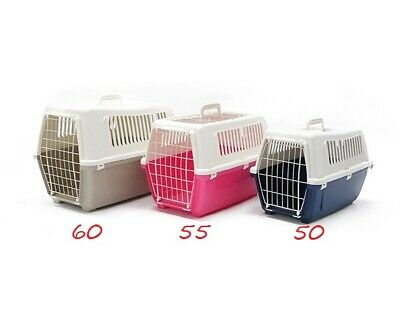 Rosewood Medium Large Cat Small Dog Puppy Kitten Carrier Plastic Crate Reduced