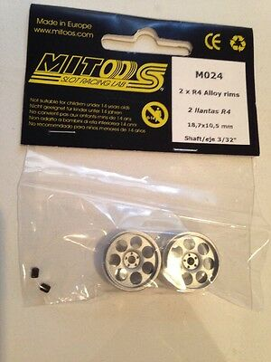 Mitoos M024 Lightweight Drilled Racing Wheels x2 - 18.7x10.5mm - New