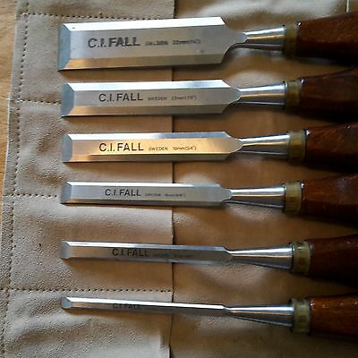 C. I. FALL. MADE IN SWEDEN WOODWORKING CHISEL SET