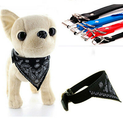 Vouge Adjustable Pet Dog Puppy Cat Neck Scarf Bandana with Collar Neckerchief P2