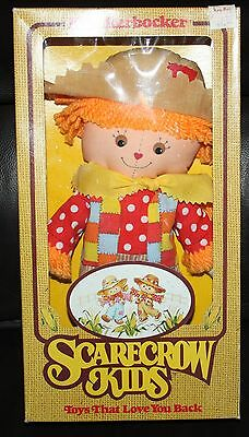 Vintage Knickerbocker Scarecrow Kids Doll Ruth Morehead 1981 MINT IN BOX