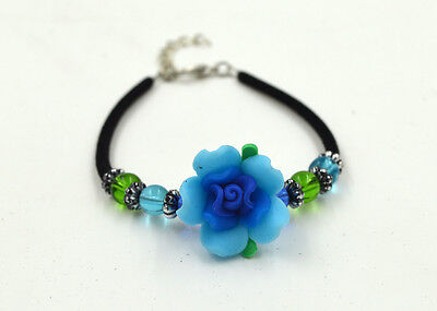 1pcs FIMO polymer clay Assorted Flower jewelry Bracelet Gift Award for Children