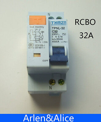 DPNL 1P+N 32A 230V~ 50HZ/60HZ MCB with over current and Leakage protection RCBO