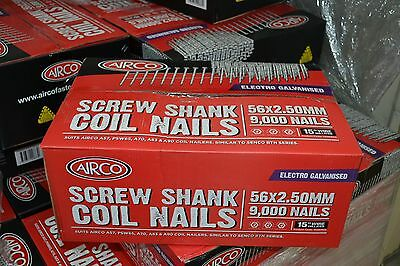 COIL NAILS - 57mm - PALING NAILS - 9000 pieces