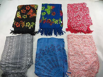 *US SELLER*lot of 5 butterfly gecko mandala floral sarong womens bathing suit..