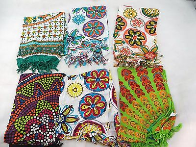 *US SELLER*lot of 5 mandala circle sarong hippie style clothing wall tapestry