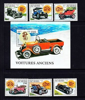 Benin VINTAGE CARS MINT 987-93 Cadillac Buick Stanley Ford Stoddard Dayton