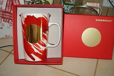 Starbucks Red & White  Christmas Limited Edition NEW in Gift Box 16 oz Cup Mug